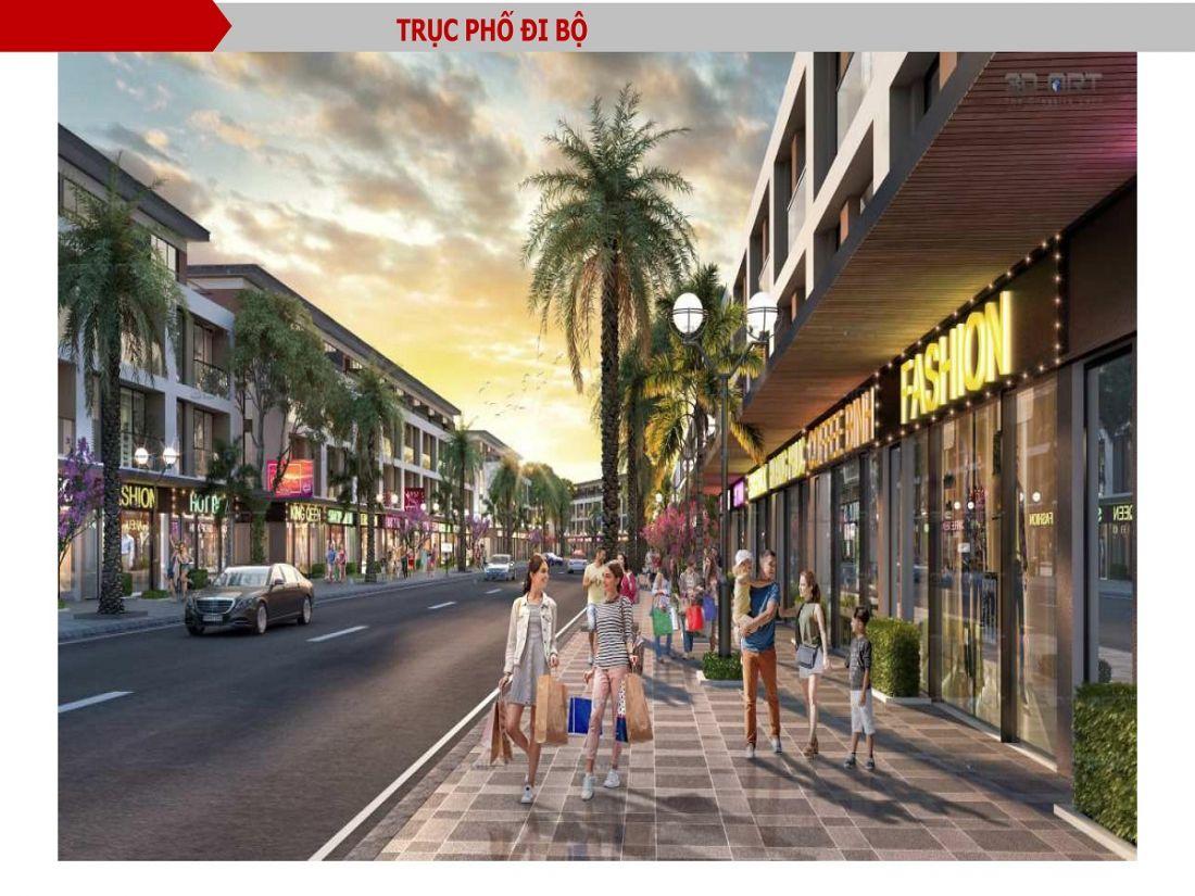 Phố đi bộ cạnh shophouse TMS Homes Wonder World Vĩnh Yên