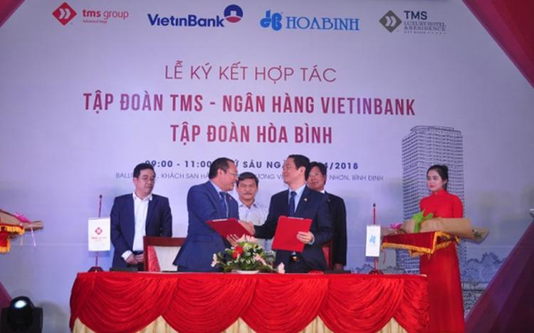 TMS Group, VietinBank và Tập đoàn Hòa Bình hợp tác triển khai dự án TMS Quy Nhơn